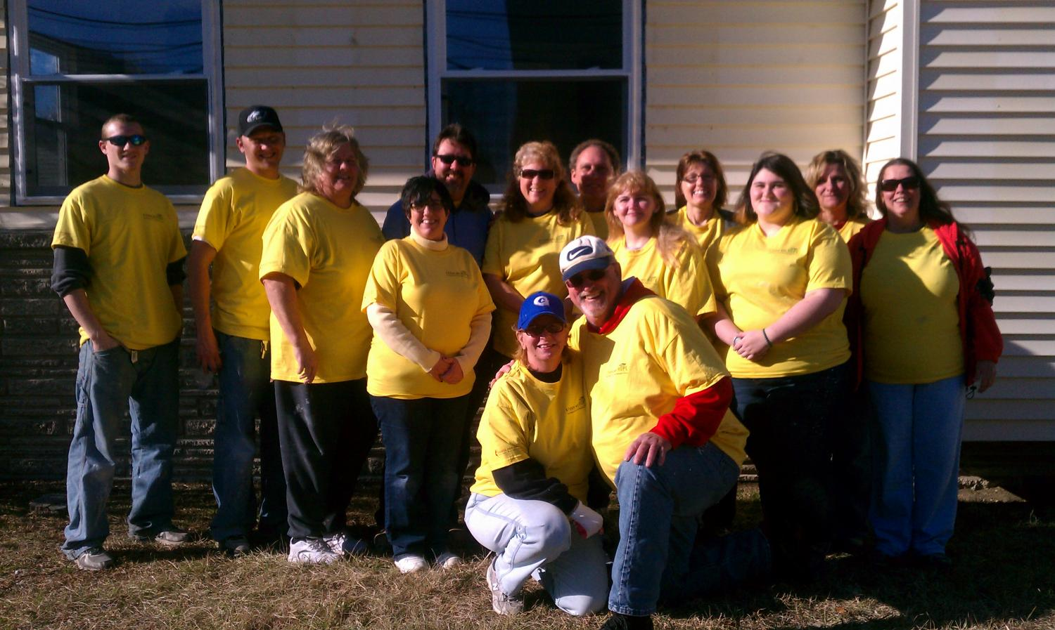 Group photo of volunteers from Malaga and Porchtown Churches - Future with Hope Project 2/22/14